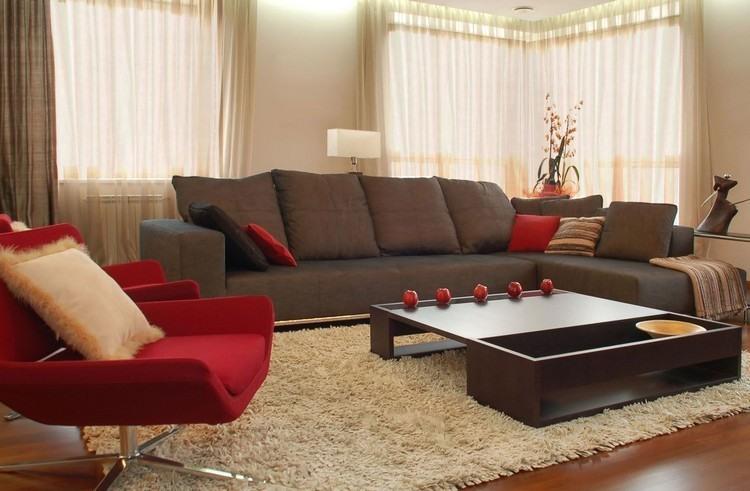 sofas energia oscura salon moderno sillon rojo ideas