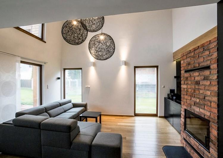 sofas energia oscura salon moderno suelo madera ideas