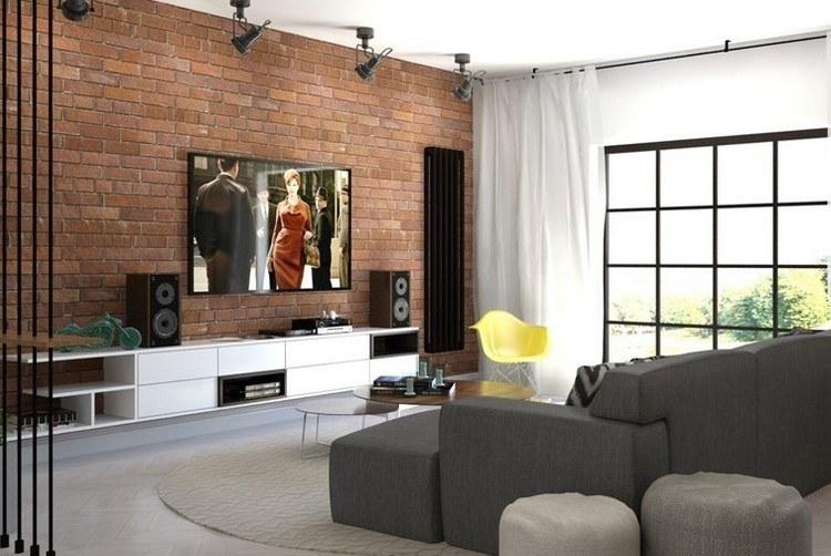 sofas energia oscura salon moderno taburetes grices ideas