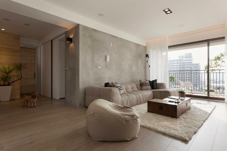 suelo madera laminada muro cemento