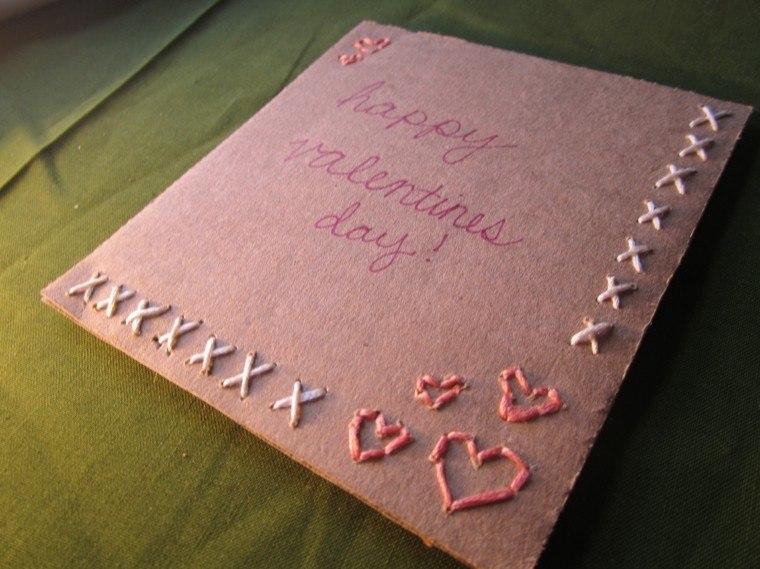tarjeta navideña casera color rosa