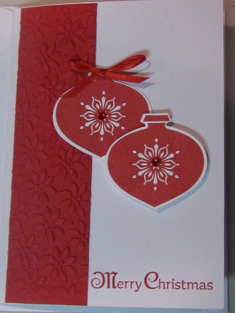 tarjeta casera color rojo blanco
