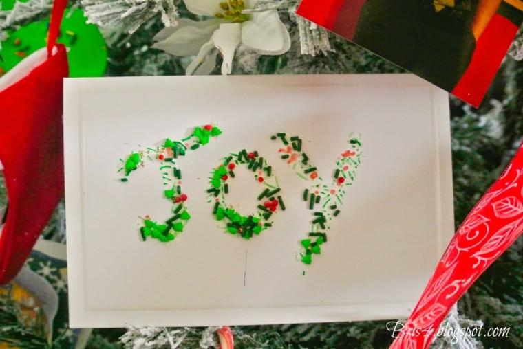 tarjeta navideña bolitas verdes