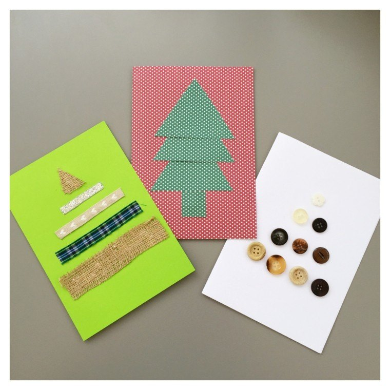 tarjetas abetos diseños caseros originales