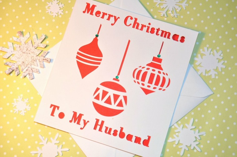 tarjetas navideñas caseras bolas cartulina