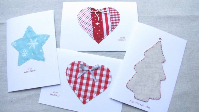 tarjetas caseras adornos tela