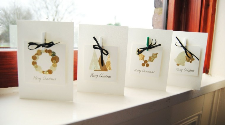 tarjetas navideñas caseras lazo vela