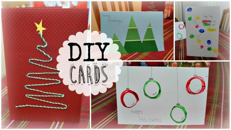 tarjetas navideñas caseras navideñas collage