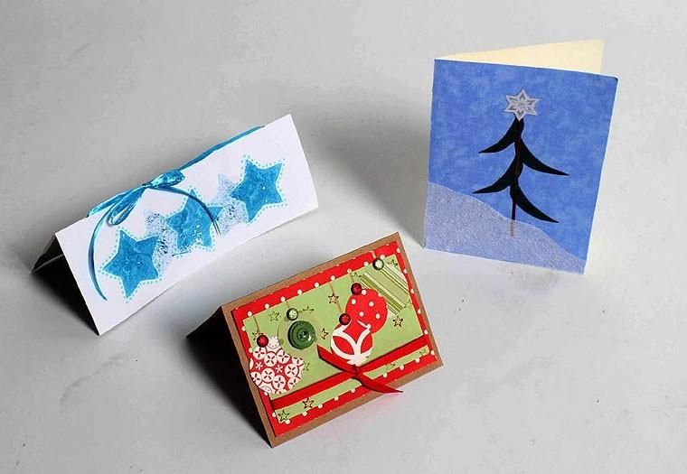 tarjetas de navidad caseras cartulina