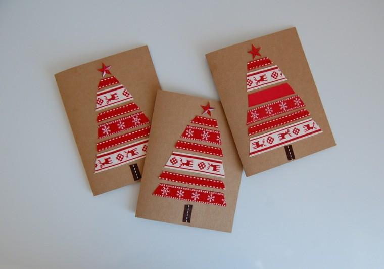 tarjetas navidad abetos navideños nórdicos