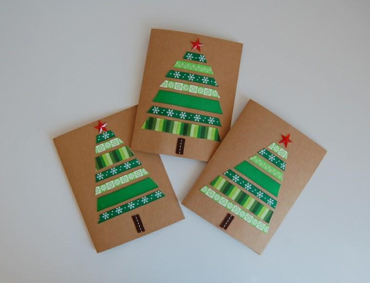 tarjetas navidad pinos verdes