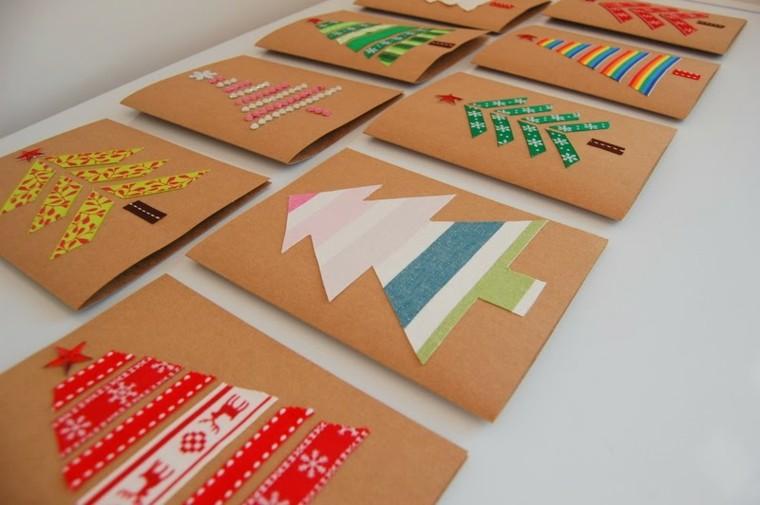 tarjetas navideñas de colores