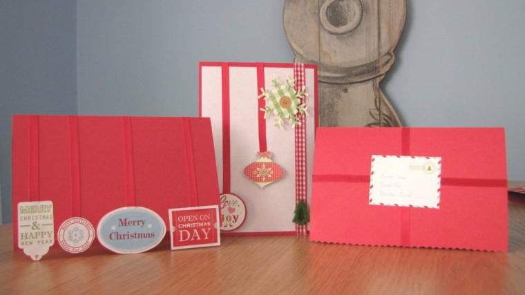tarjetas navideñas color rojo