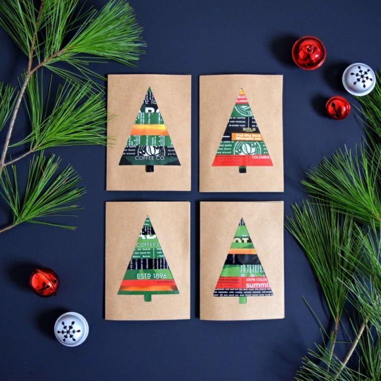 tarjetas navidaeñas diseño reciclado