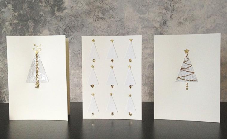 tarjetas navidad diseño estilo minimalista
