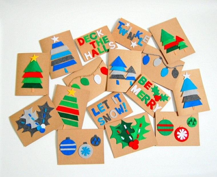tarjetas navideas cartulina telas ideas with tarjetas navideas manuales