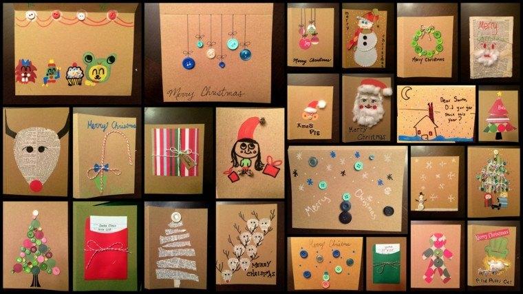 tarjetas navideñas diseño casero adornos