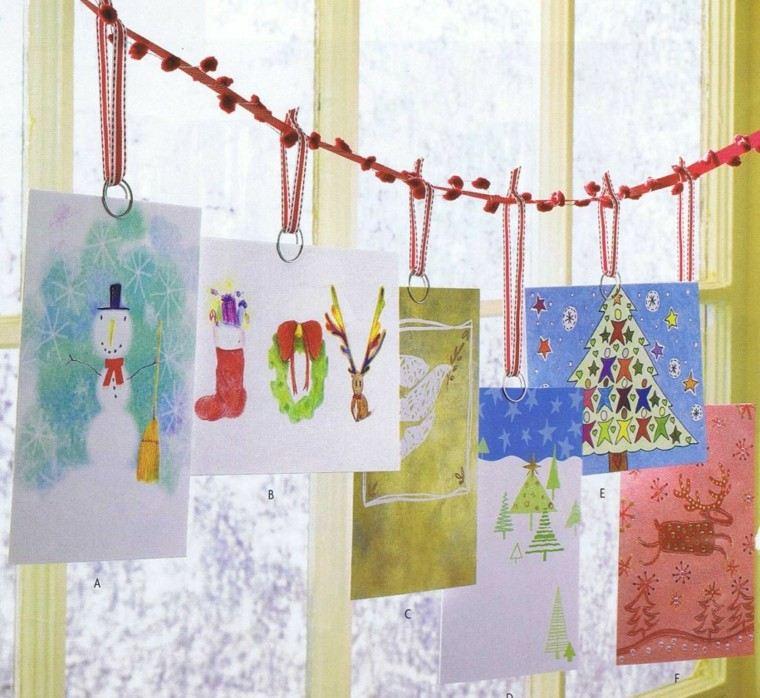 tarjetas navidad pinturas acuarelas