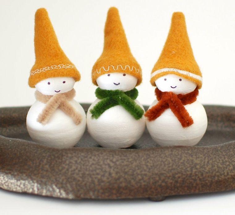 tres enanos navideño bolas blancas