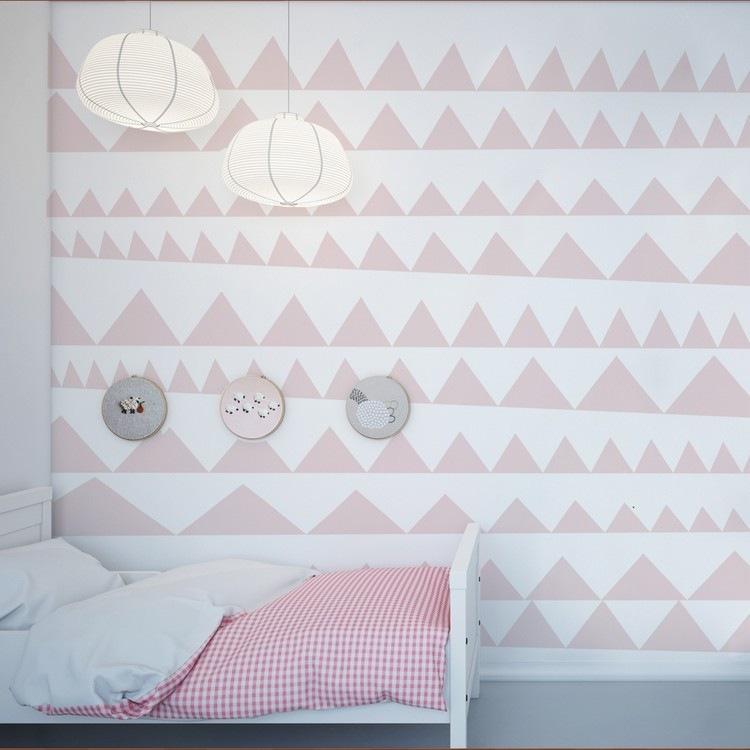 triangulos filas color rosa blanco