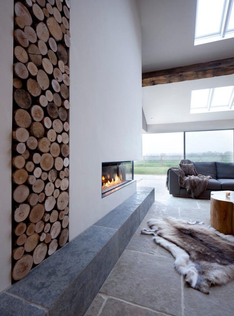 troncos salones casa variantes madera