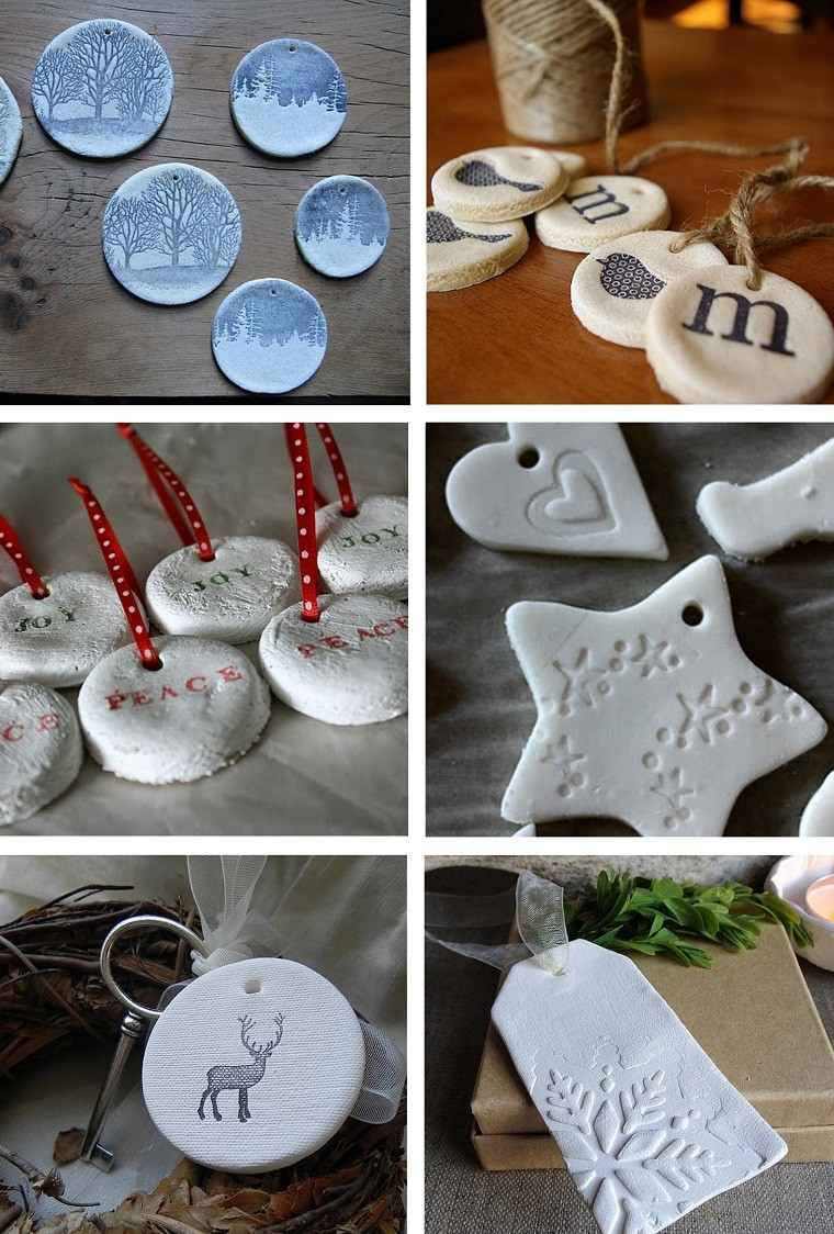 varias opciones adornos arbol navidad sal ideas