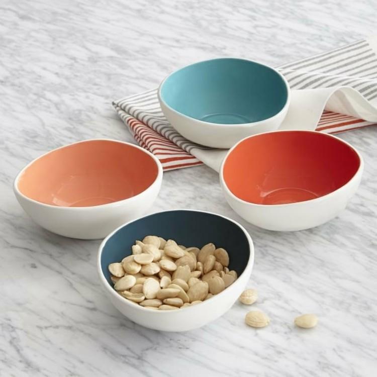 vasijas colores diferentes estilo servilletas