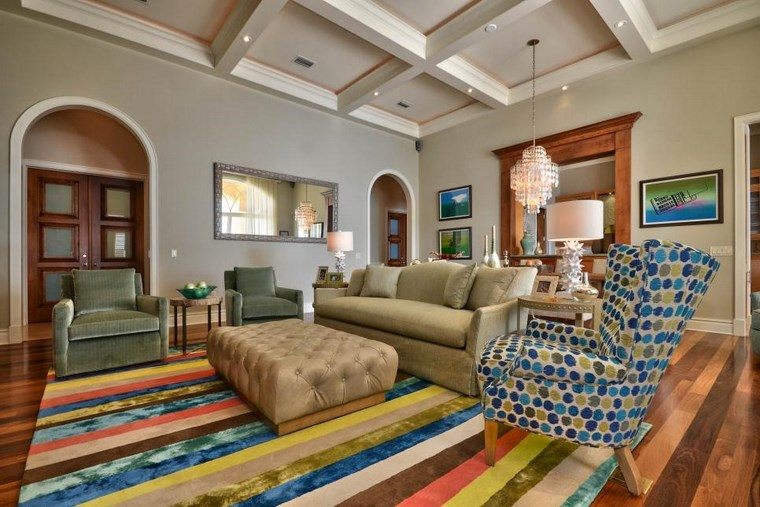 Enrique Crespo alfombra colores salon ideas