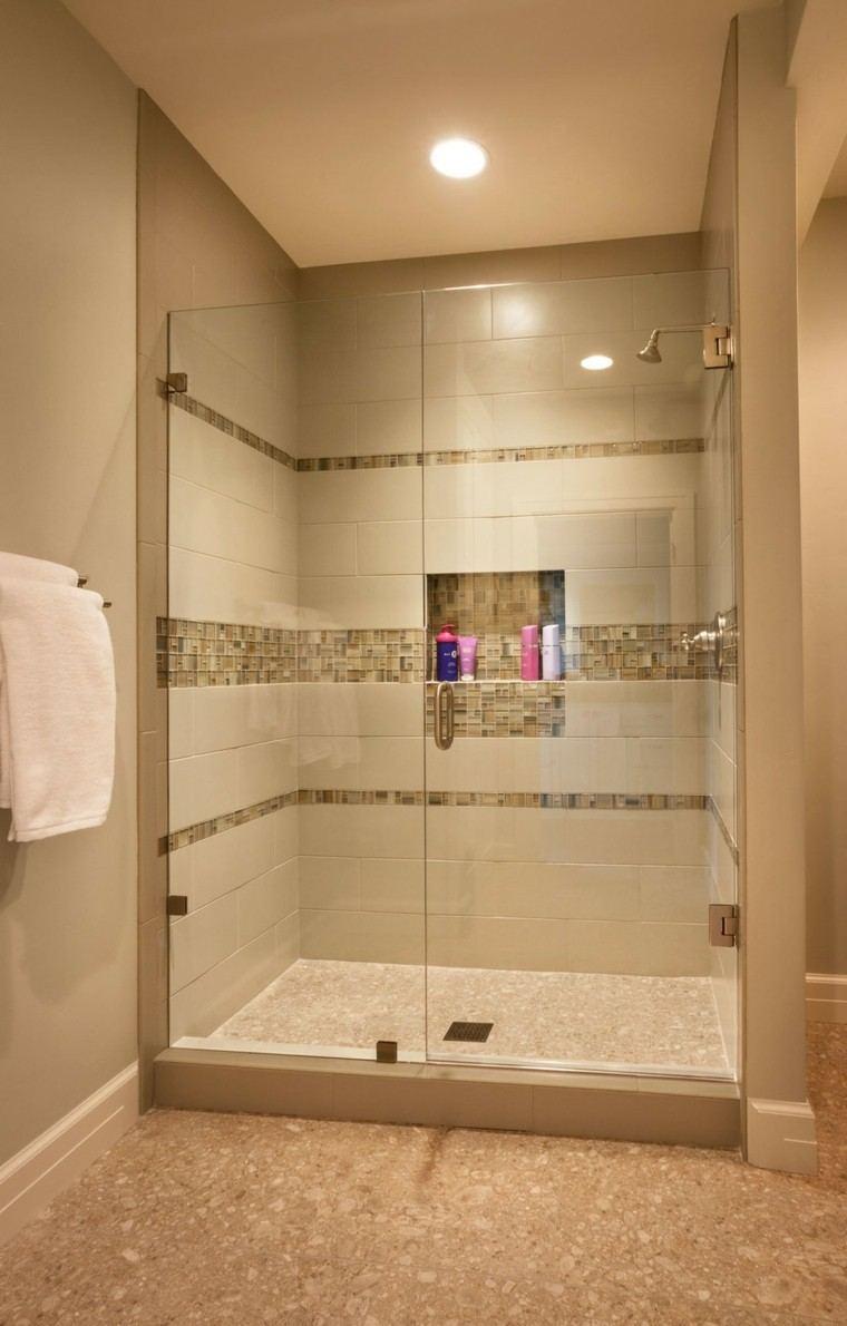 Ba os modernos con ducha 50 dise os impresionantes Diseno de bano con mampara