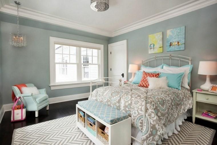 Garrison Hullinger diseno interiores pared azul ideas