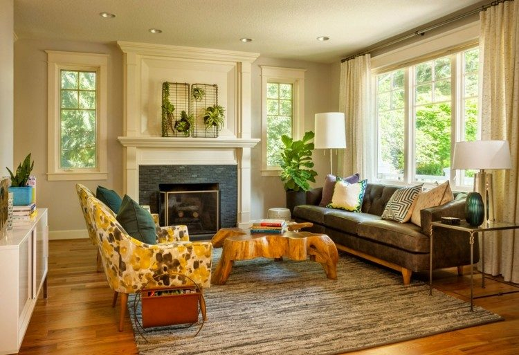 Garrison Hullinger sofa cuero mesa preciosa ideas