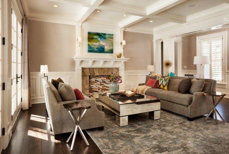 fotos de salones sofas color gris mesa preciosa ideas