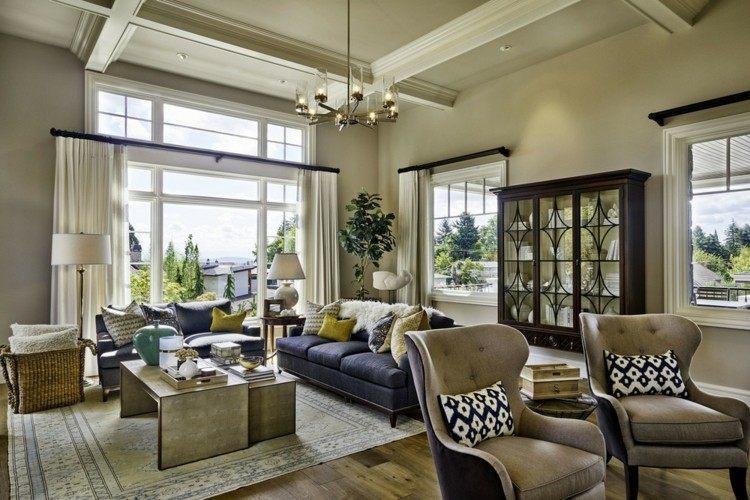 Garrison Hullinger sofa sillones color azul ideas