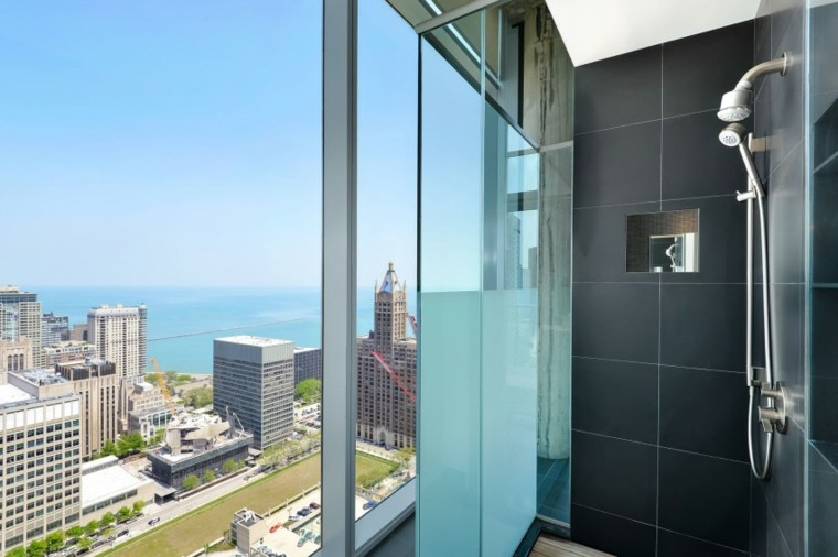Penthouse Chicado vistas banos modernos ducha ideas