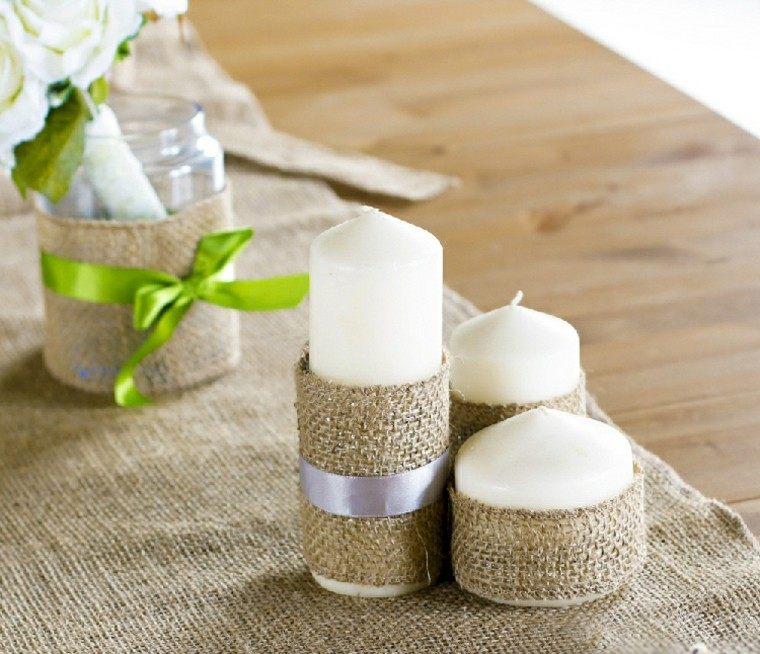 velas preciosas decoradas ideas arpilleras
