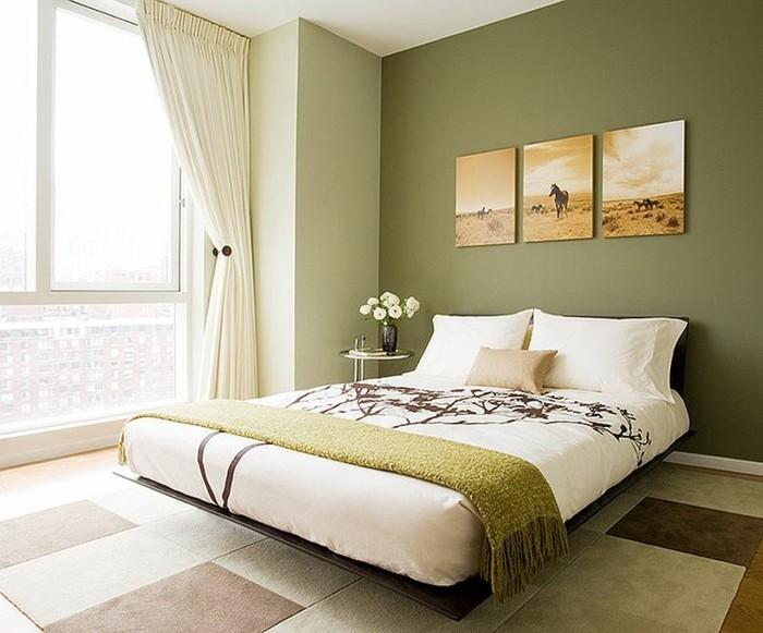 Susan Kennedy Design minimalista dormitorio verde ideas