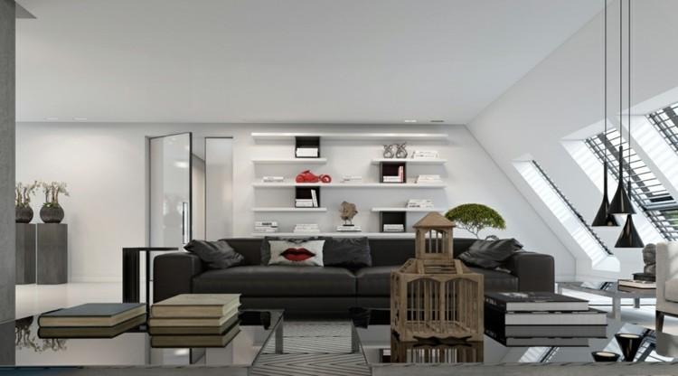 abierto paredes decorado grises cojines