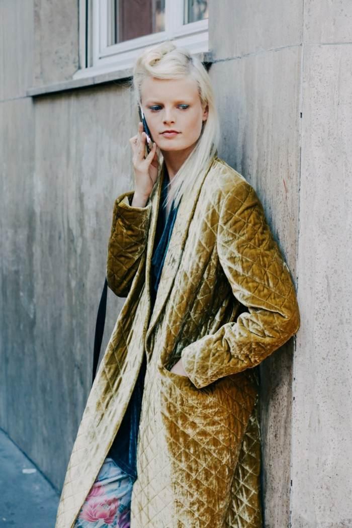 abrigo amarillo rombos original invierno ideas