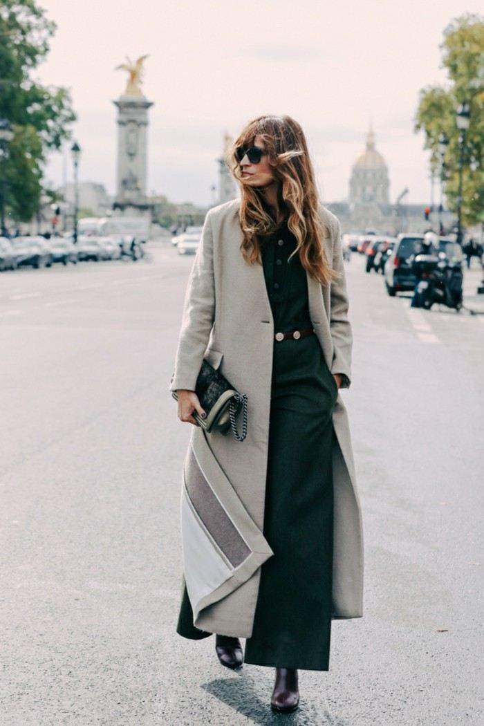 abrigo suelo pantalon verde oscuro ancho ideas