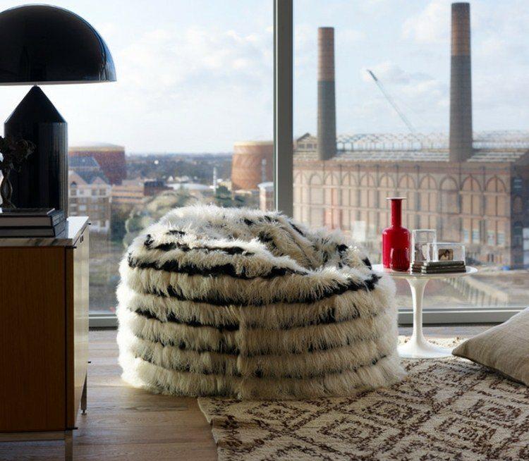 Accesorios muebles puff para cada habitaci n de casa - Puff de mimbre ...