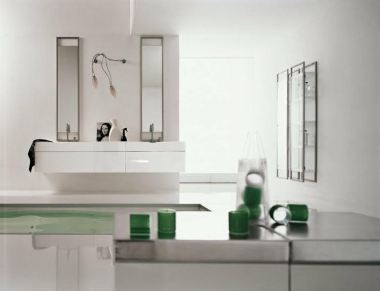 decorar baños blanco cuadros cuadros