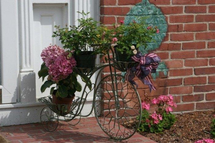 adornos jardin bicicleta pequena acero ideas