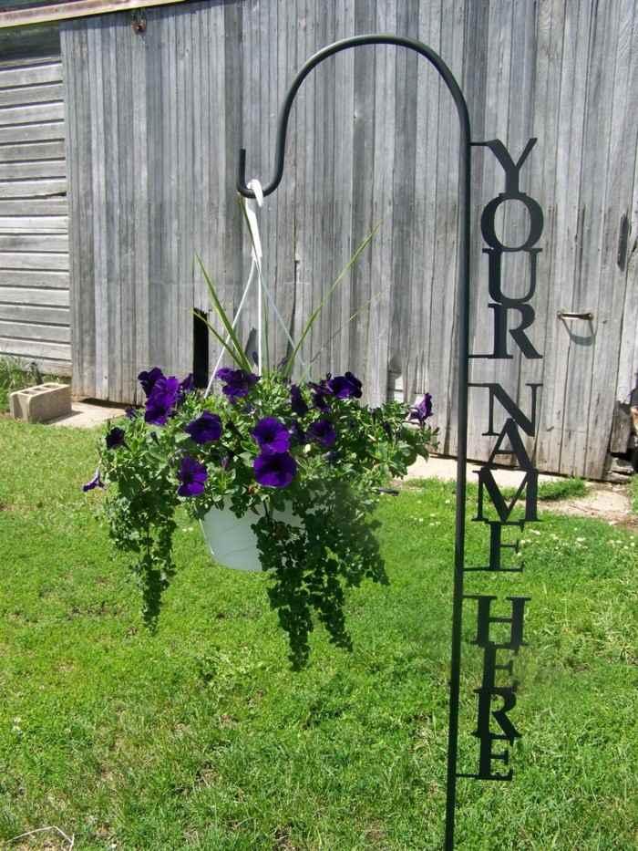 adornos jardin opciones colgar macetas ideas