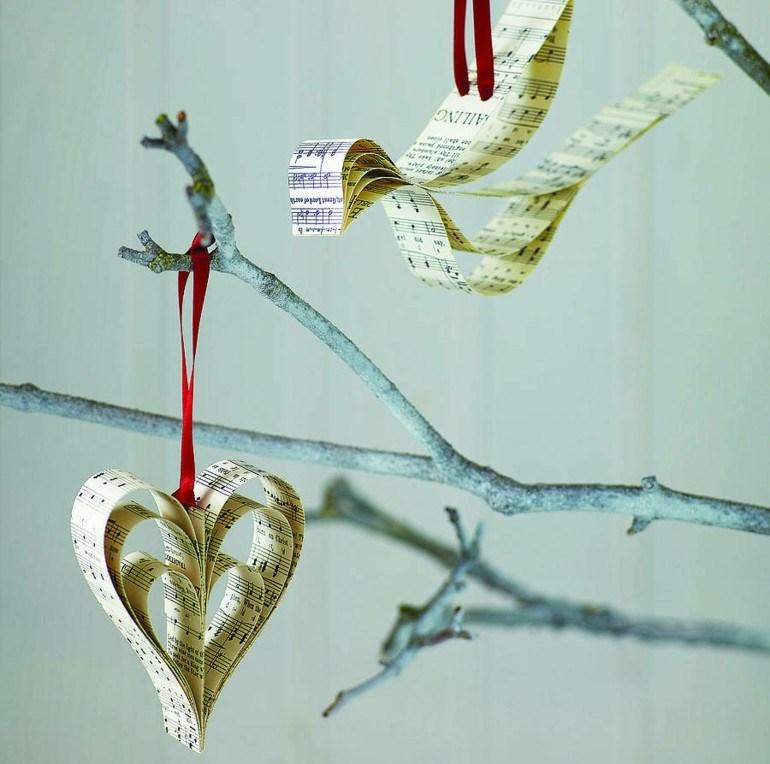 adornos navidad colgantes papel partiruras