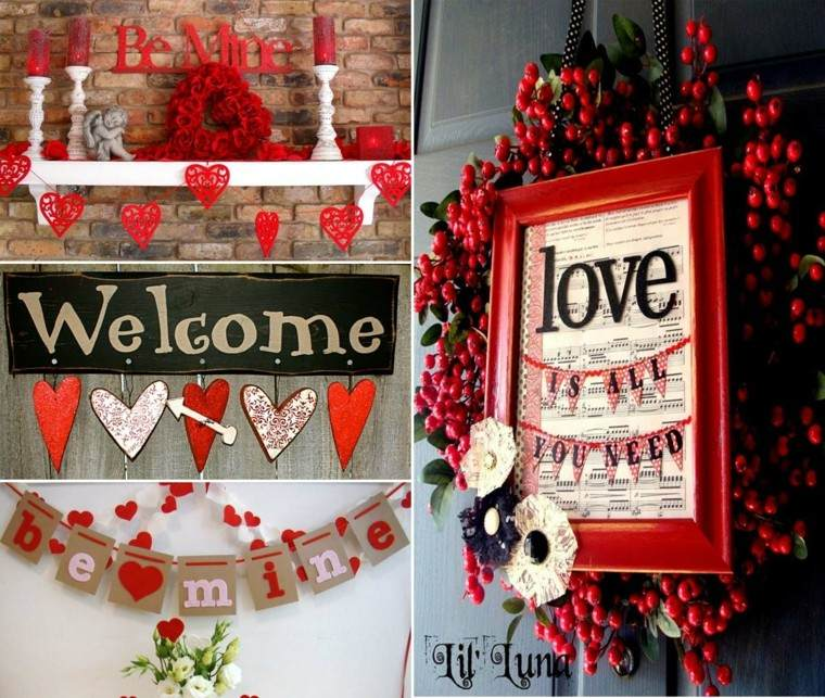 adornos caseros decoracion san valentin