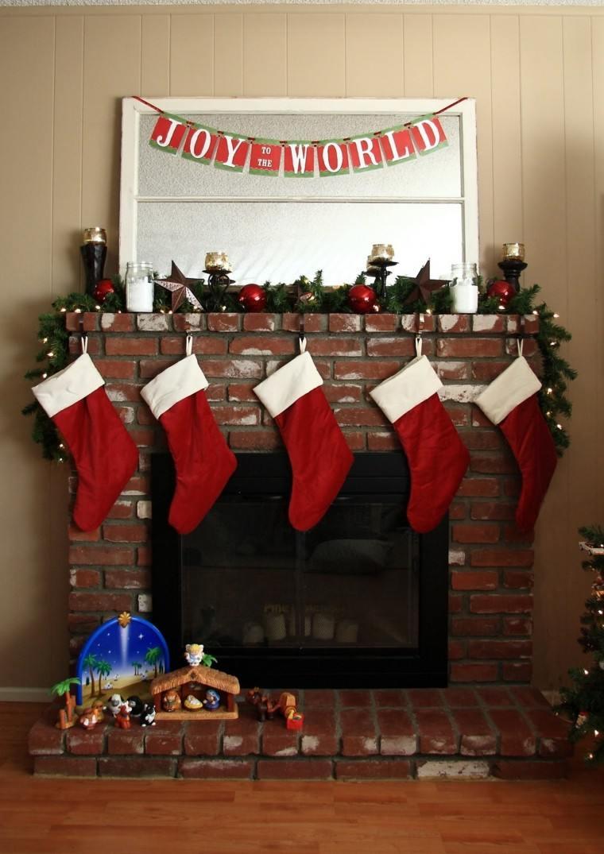 Chimenea navideña - cincuenta ideas para su decoración
