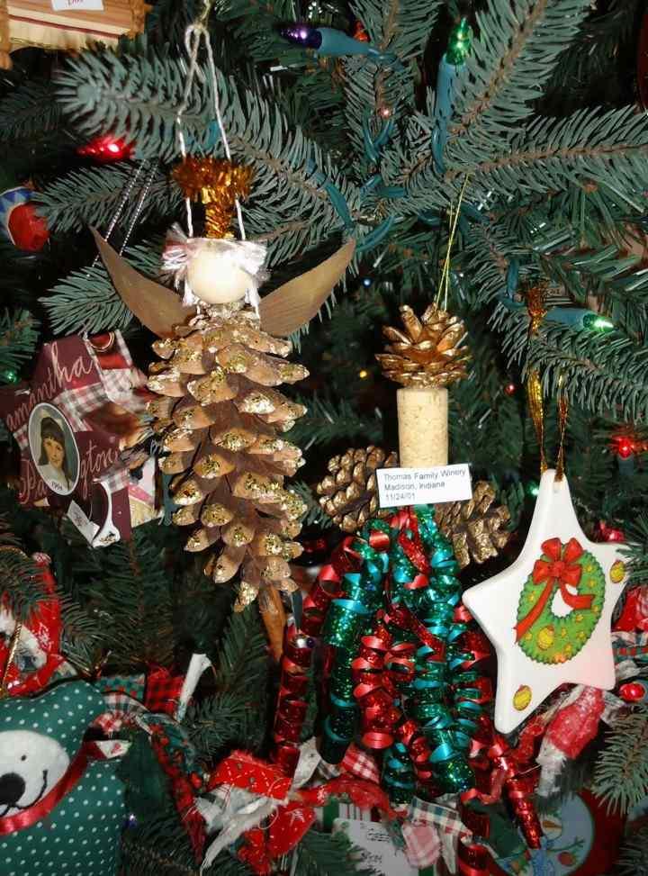 adornos navidad piñas pino