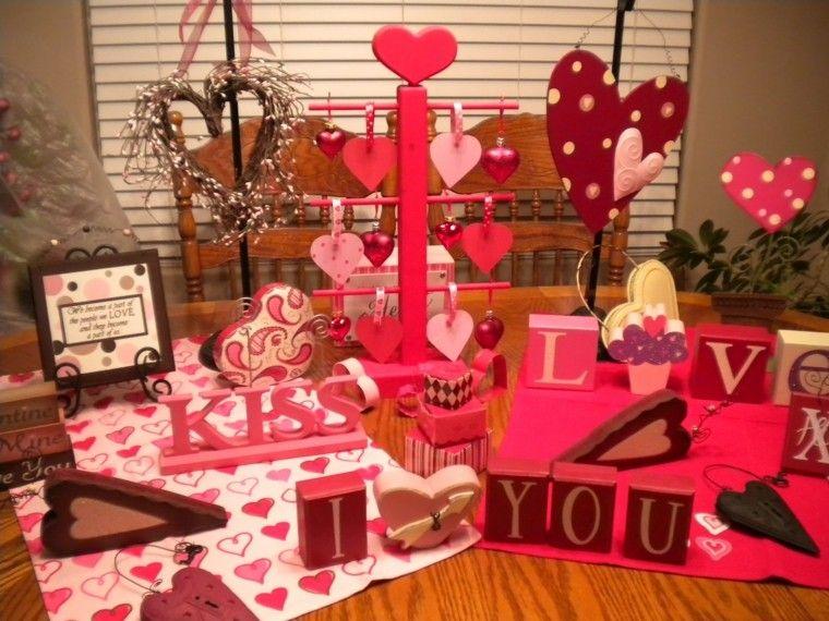 adornos mesa deco san valentin