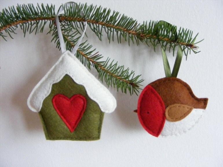 Navidades con estilo cincuenta ideas de decoraci n - Adornos de navidad de tela ...
