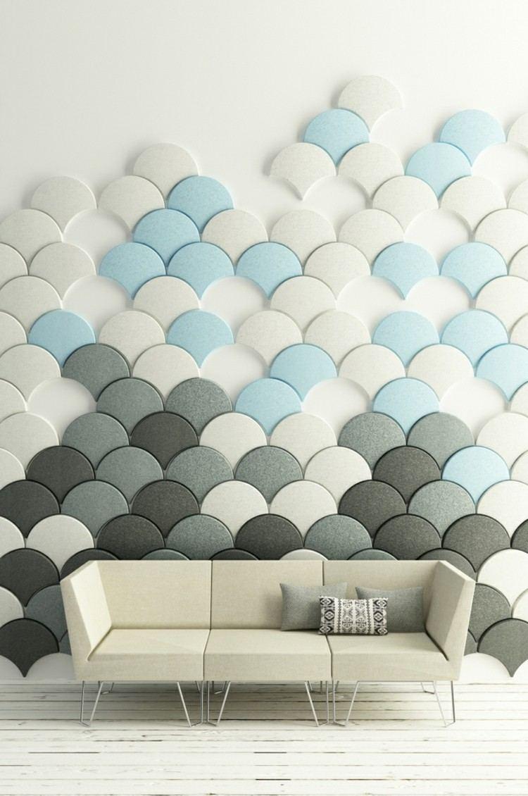 alargado diseño azules negro mueble metale